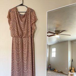 Glitter-crochet Blouson Dress